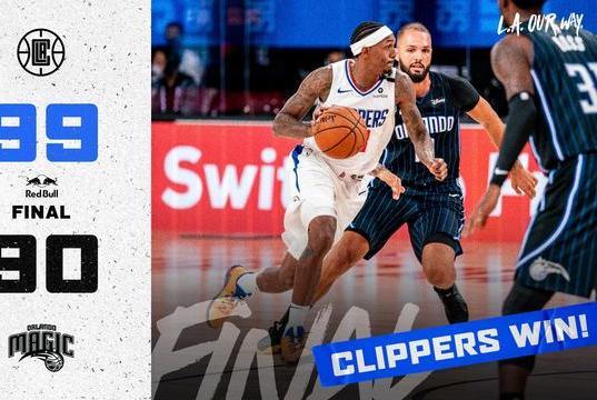 快船魔术热身赛打响NBA复赛第一枪,没有球迷现场气氛到底如何?