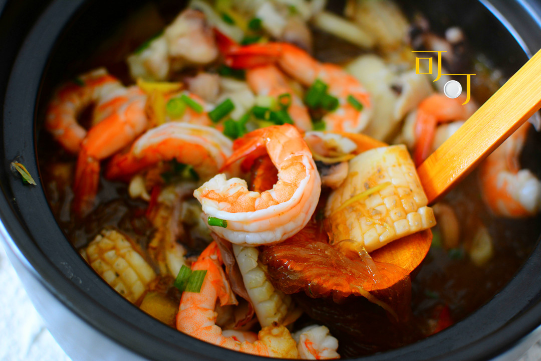 过年家宴,来这道南瓜粉丝煲,好吃一锅端,连不吃海鲜的人也爱