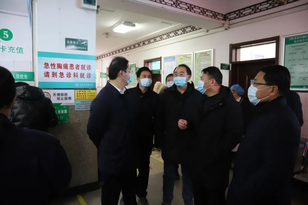 玉田县委书记陈宇来玉田县中医医院视察疫情防控工作