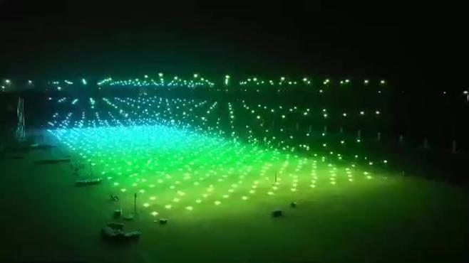 无人机集群飞行表演