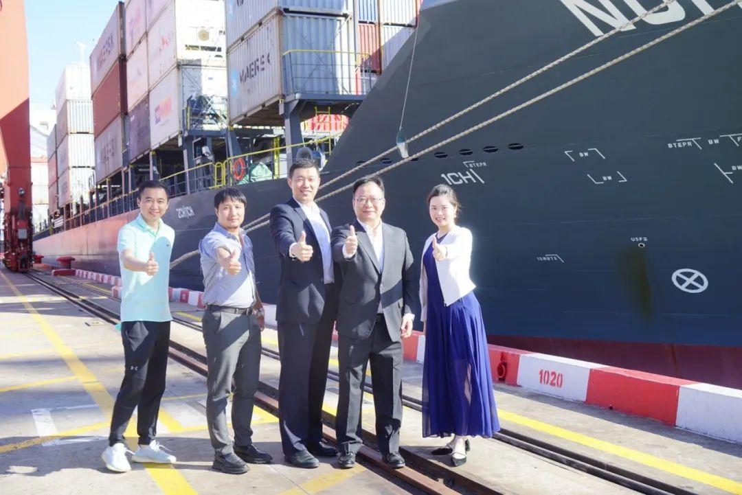 海陆马士基缅甸、越南航线首航招商港口深圳西部港区