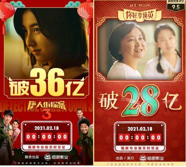 春节档电影票房多少 春节档电影票房排行榜实时数据
