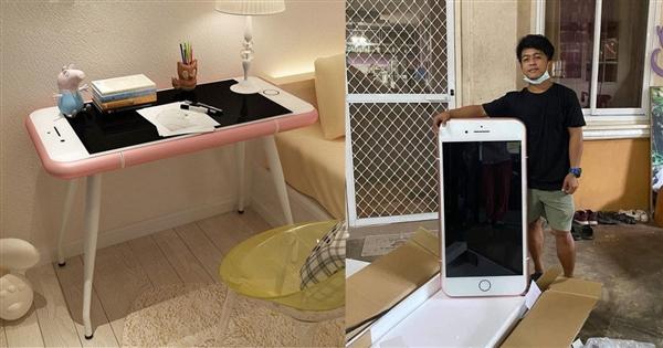 天悦登录网购便宜苹果手机:到货居然是iPhone造型咖啡桌