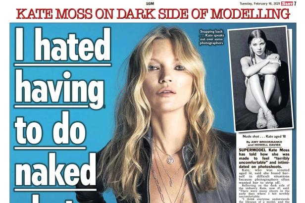 超模凯特摩丝自曝遭性剥削!14岁被逼拍裸照,模特圈太黑暗
