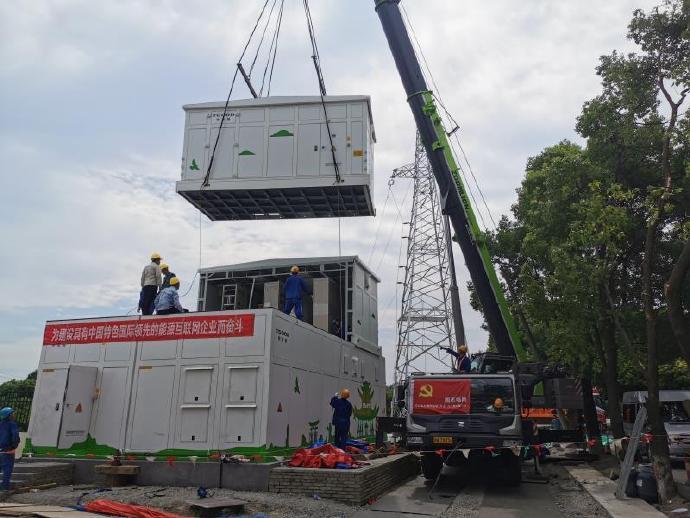 杭州首个35千伏公用预制舱式智能变电站投运