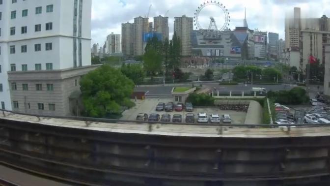 地铁视角看上海机务段车辆段上海地铁3号线宝山路-上海火车站区间