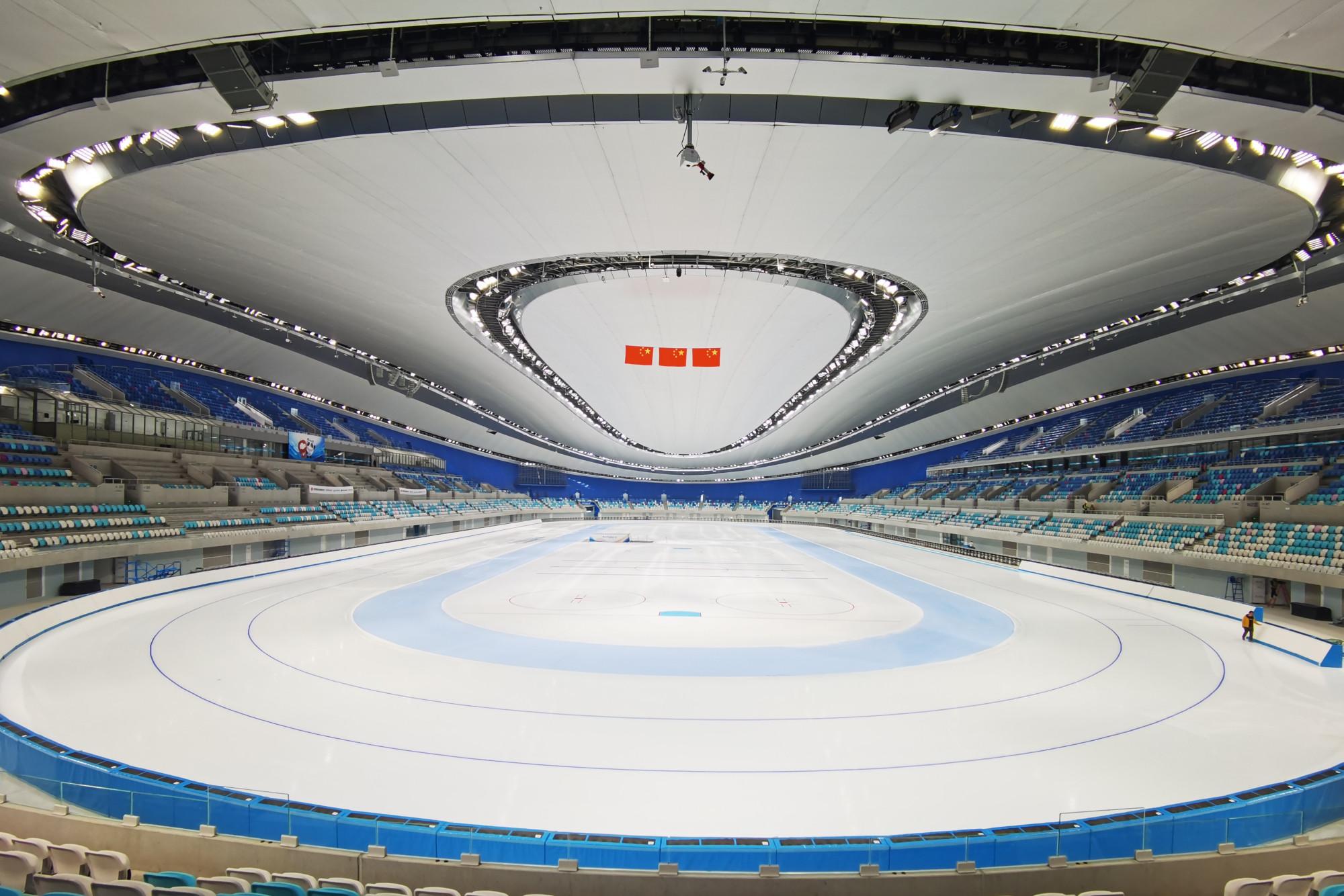 亚洲最大冰面亮相,国家速滑馆首次完成全冰面制冰