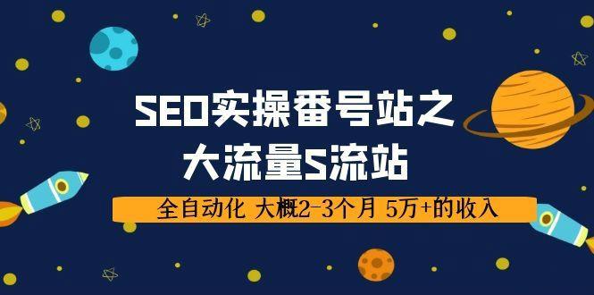 SEO实操项目番号站之大流量S流站,全自动化 大概2-3个月 5万+的收入