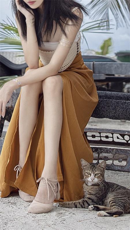 ⭐微博红人⭐南桃Momoko-清纯美女@黄裤插图2