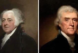 亚当斯与杰斐逊之争
