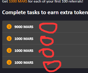 ProjectMars协议空投,填写FTM钱包地址获得500个MARS,邀请1人送1000 MARS