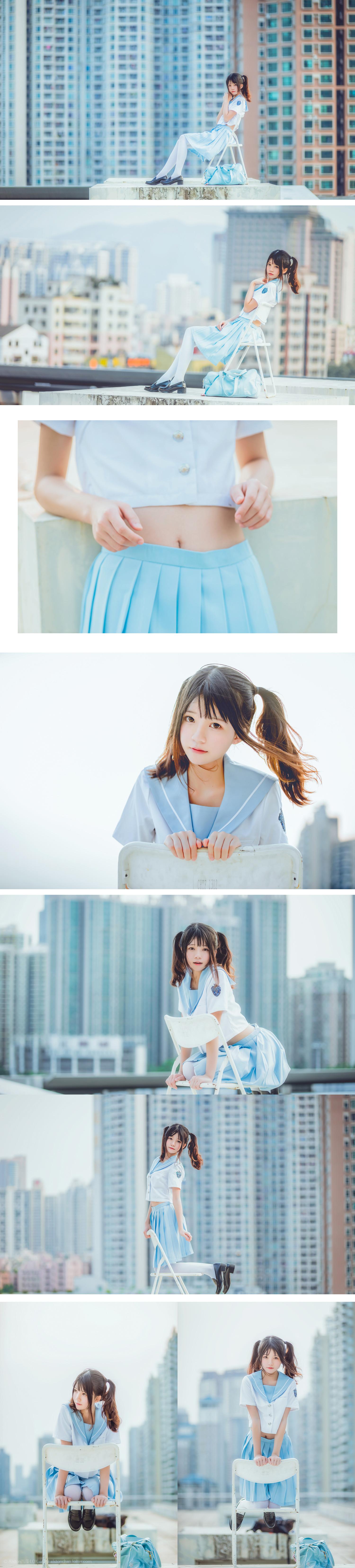 免费⭐微博红人⭐桜桃喵@写真cos-穿制服的样子(桜桃喵)插图5