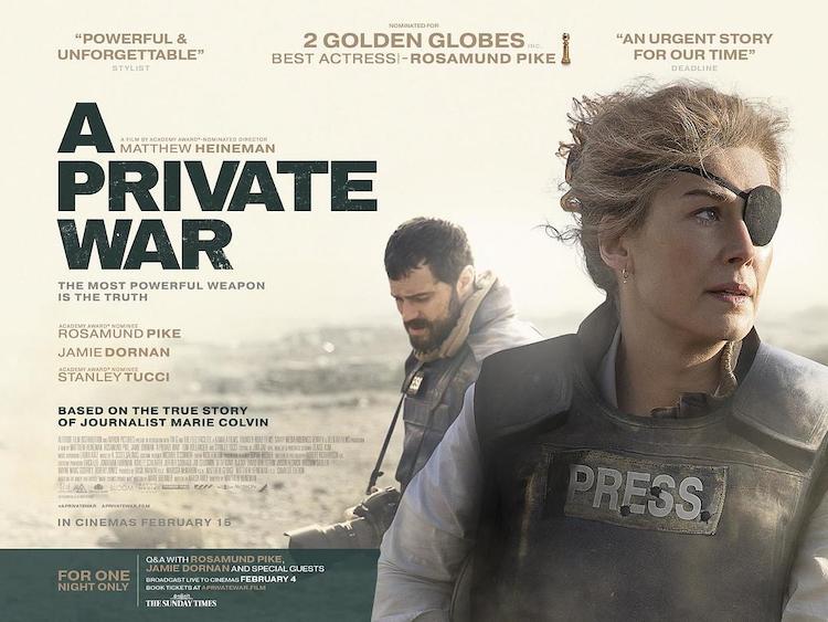 传记电影《一个人的战争》电影影评:战地女记者玛丽·科尔文的非凡人生