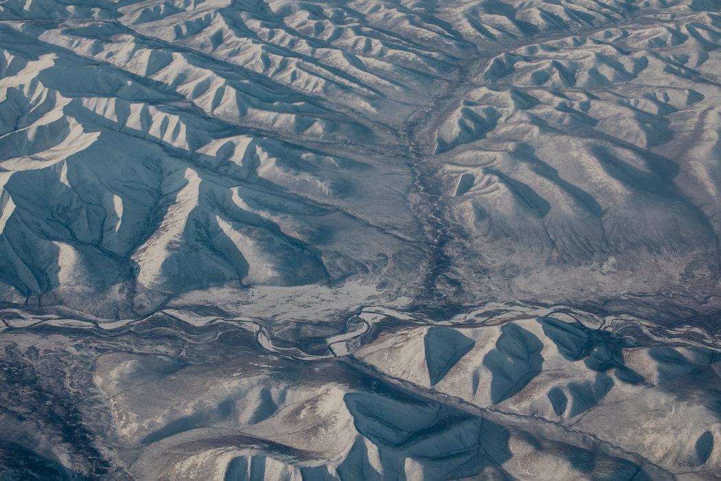 科雷马地区的山地景观鸟瞰。