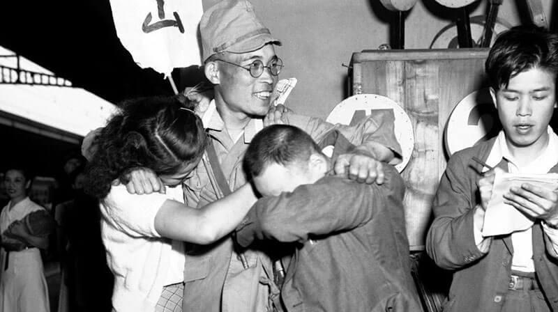 正在改变的国家,老照片中二战结束后的日本