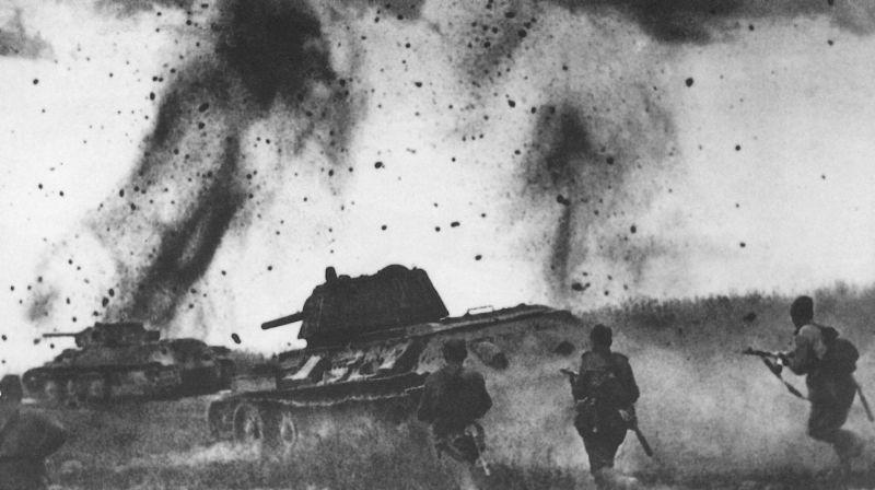 一组二战老照片,库尔斯克战役中的苏军