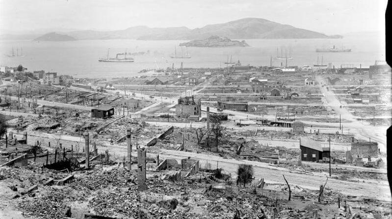 天灾人祸下的城市,实拍1906年大地震后的美国旧金山