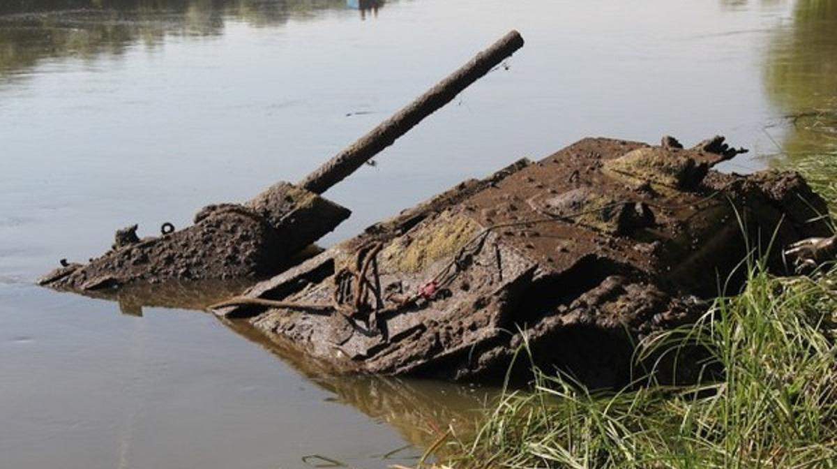 河底的二战遗存,俄罗斯在顿河发现的T-34坦克