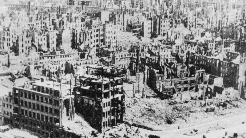 毁于二战战火的历史名城,大轰炸后的德国德累斯顿