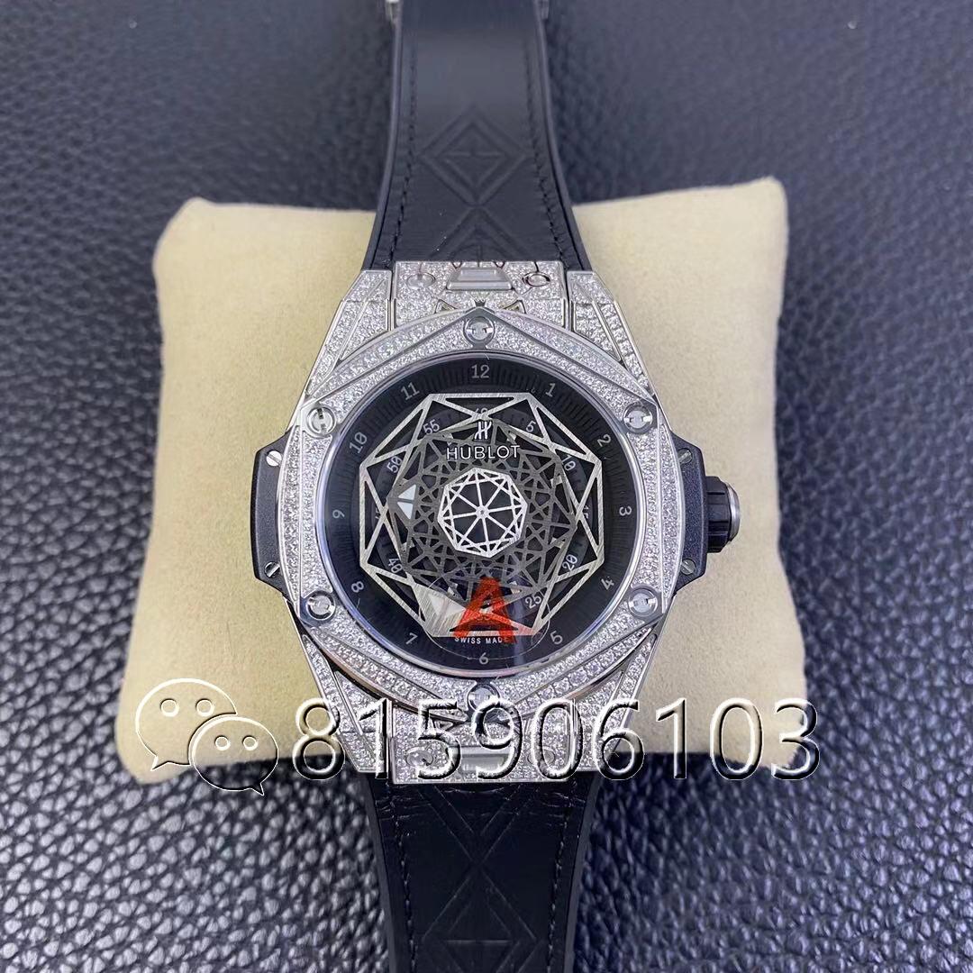 HB厂宇舶Big Bang刺青满钻腕表实图测评奢华品质