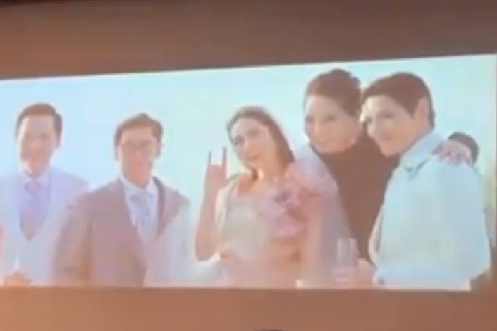 """郭碧婷结婚视频曝光,被向佐掀盖头甜蜜亲吻,手比""""我爱你""""合影"""