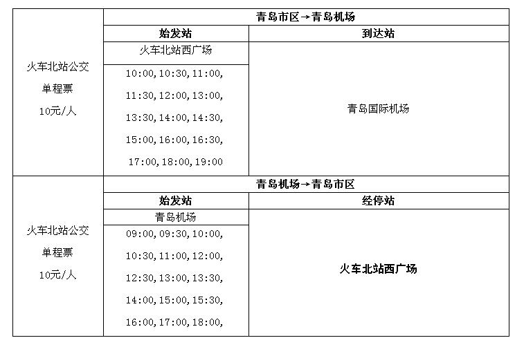 青岛机场_机场巴士_火车北站公交、票价、时刻表、始发站