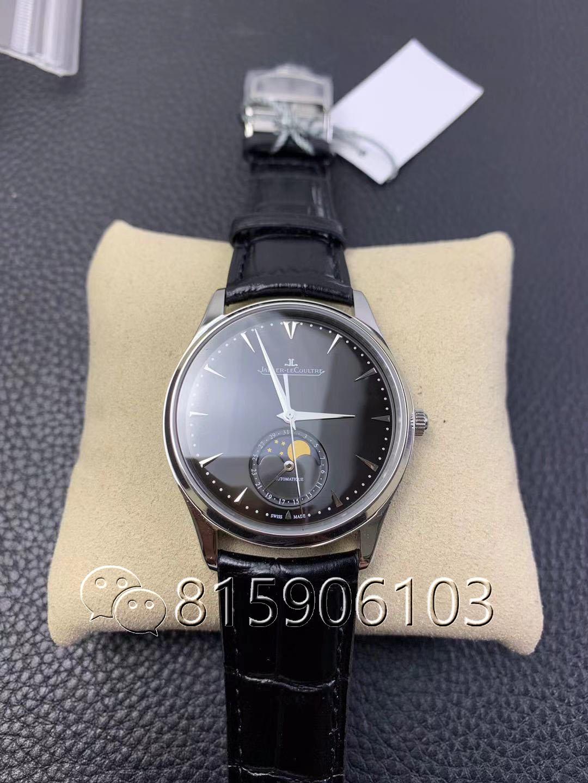ZF厂积家大师月相1368470黑盘腕表实况测评