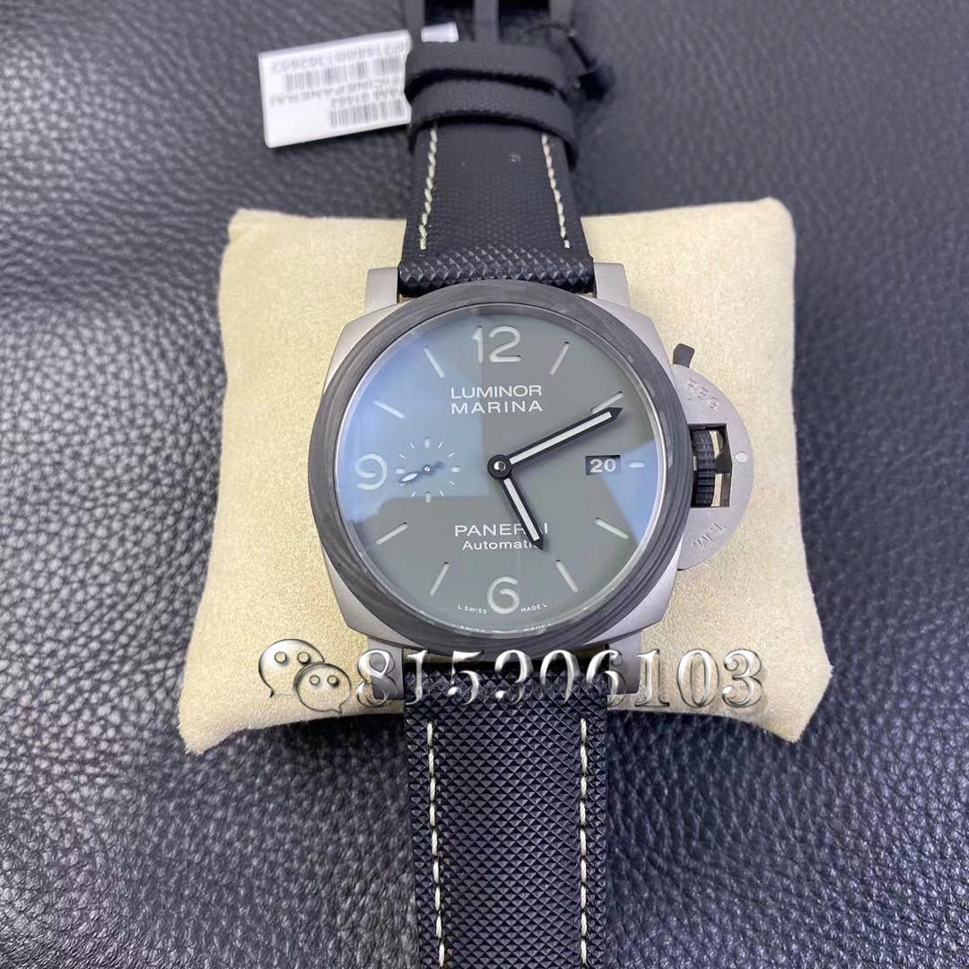 钛金属+碳纤维!VS厂沛纳海1662烟灰盘腕表