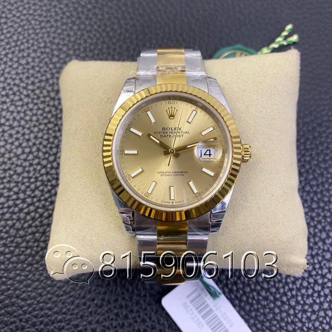 VS厂劳力士日志m126333间金腕表是最好的吗?