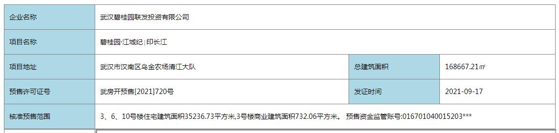 武汉碧桂园江城纪新取预售证
