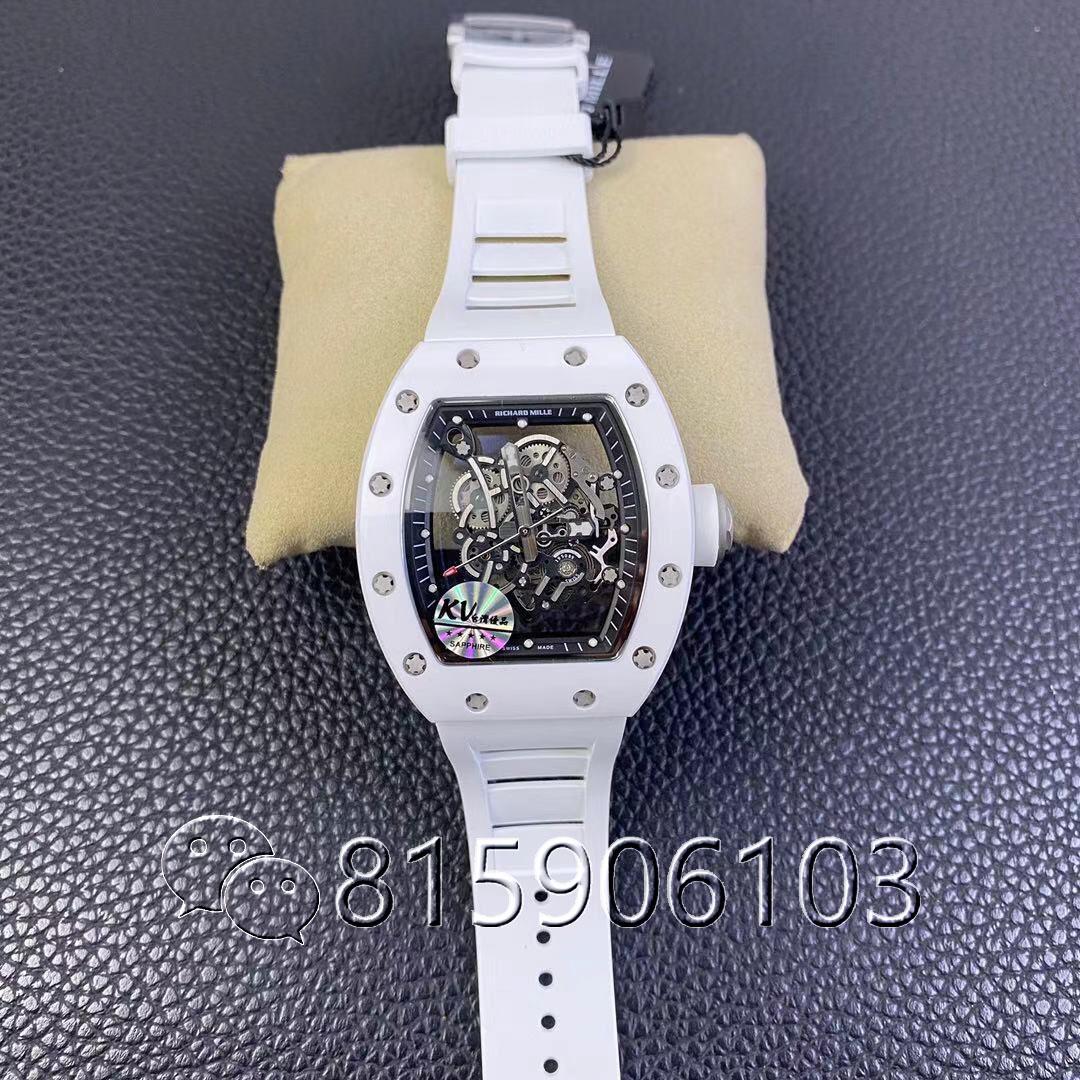 KV厂理查德米勒RM055白陶瓷腕表V2版实物测评