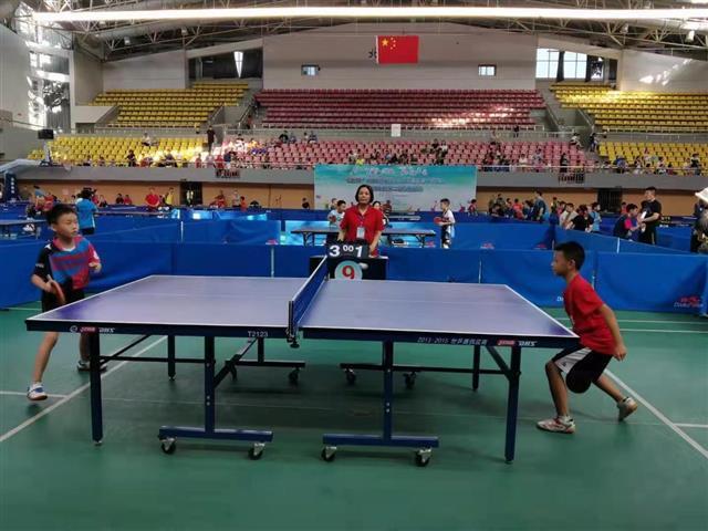 湖北省社会体育俱乐部十项联赛乒乓球比赛在仙桃举行