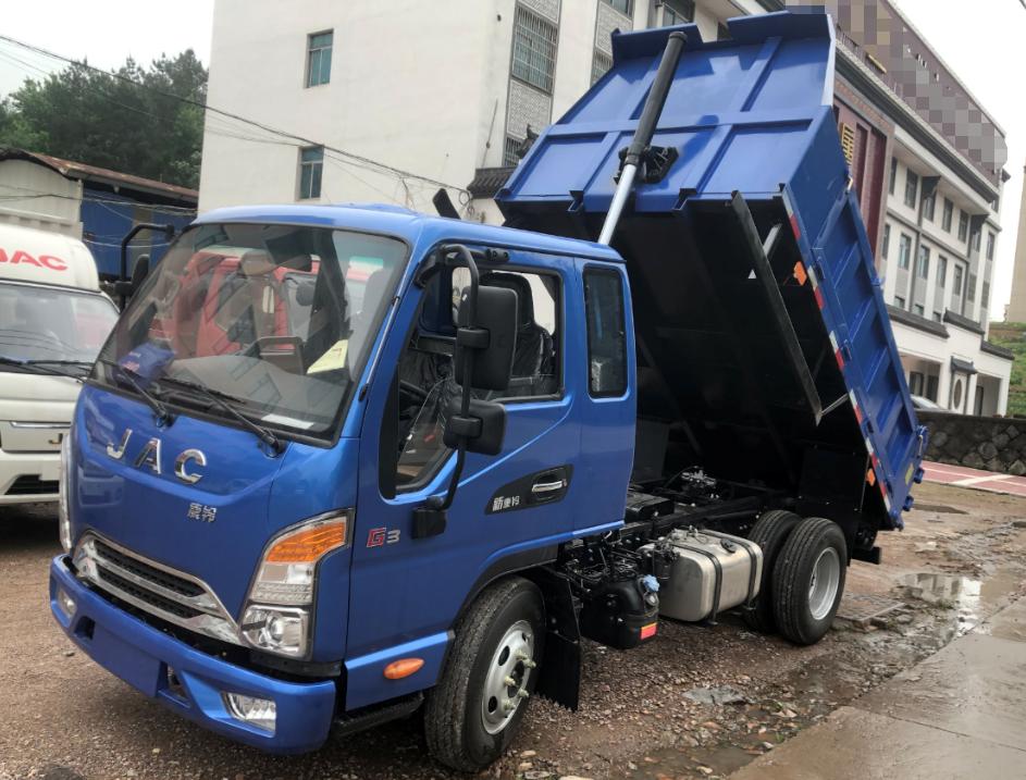 JAC江淮工程车:康铃G3小自卸,3.3m货箱可出入地库