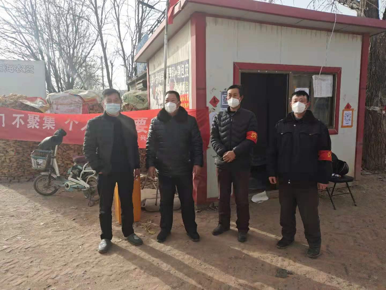 河间市兴村镇油店村党支部领导带头在抗疫一线