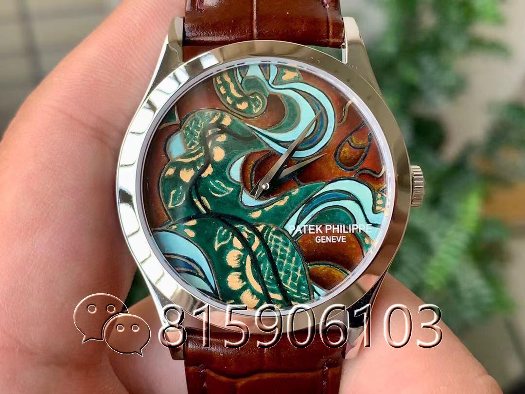 FL厂百达翡丽5077珐琅腕表不丹八色织品细节如何