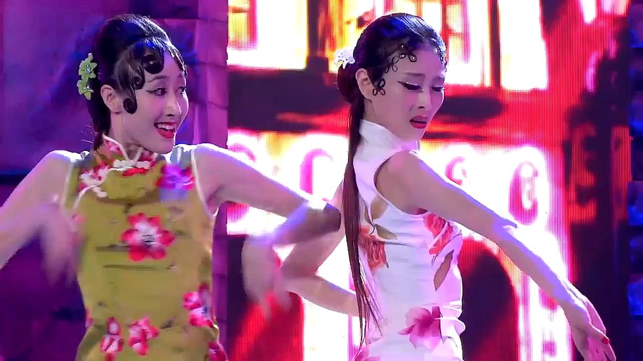 中国好舞蹈:2女孩上好舞蹈,跳双人舞夜上海,惊艳好看