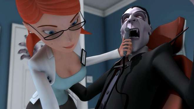 吸血鬼爱上漂亮女医生,刚镶了大金牙,就被拍碎了