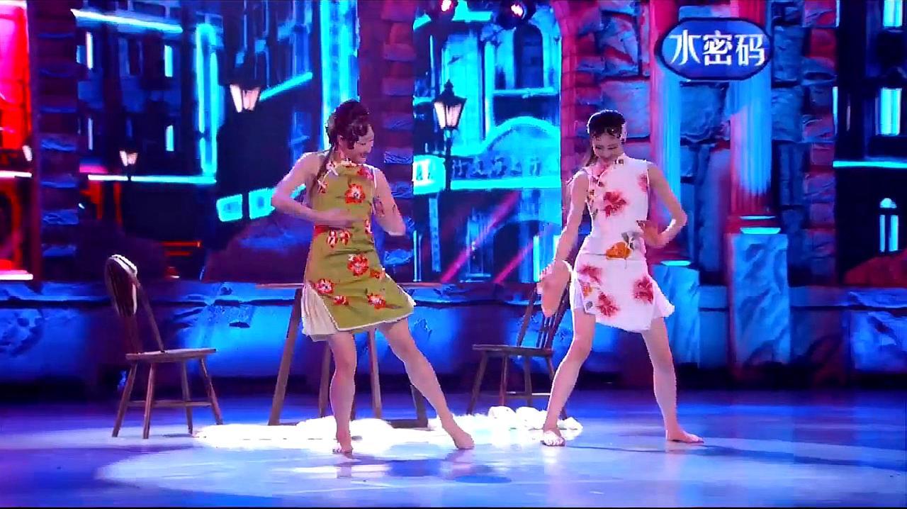 中国好舞蹈:2女孩上好舞蹈,跳双人舞夜上海,引观众喝彩