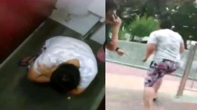 广西19岁男子躲女厕偷拍,被抓现行夺门逃跑,原因令人无语