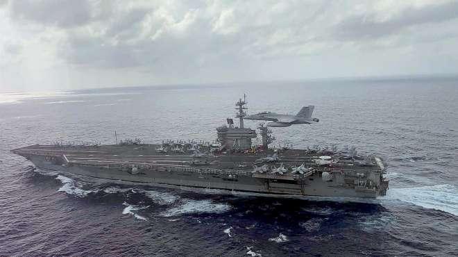 """美军""""罗斯福""""号航母23日进入南海"""