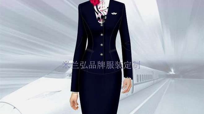 铁路正规工作服套装_复兴号制服定做-米兰弘品牌服装