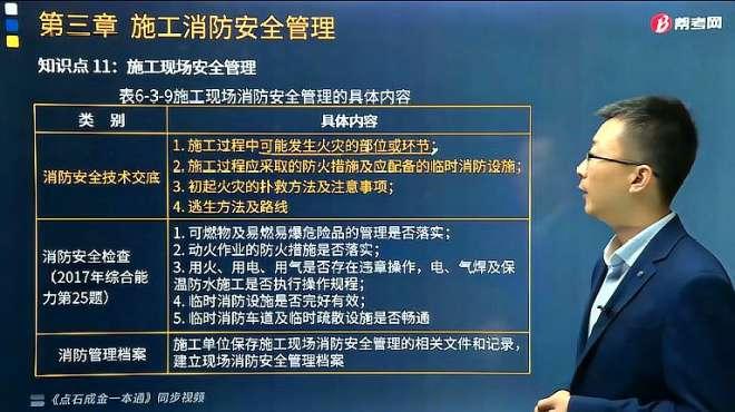 帮考网消防考试宿吉南老师讲施工现场消防安全检查包括哪些内容?