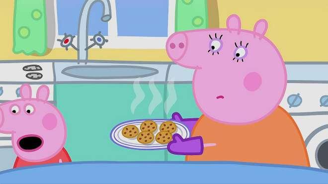 小猪佩奇:佩奇向苏西打电话问苏西会不会吹口哨,没有想到苏西会