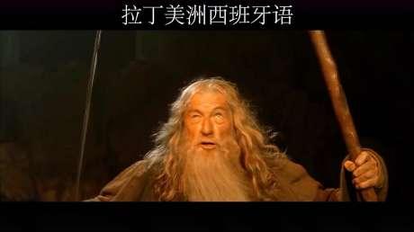 魔戒(指环王)的经典镜头台词,用18种语言说出来哪种更有气势呢?