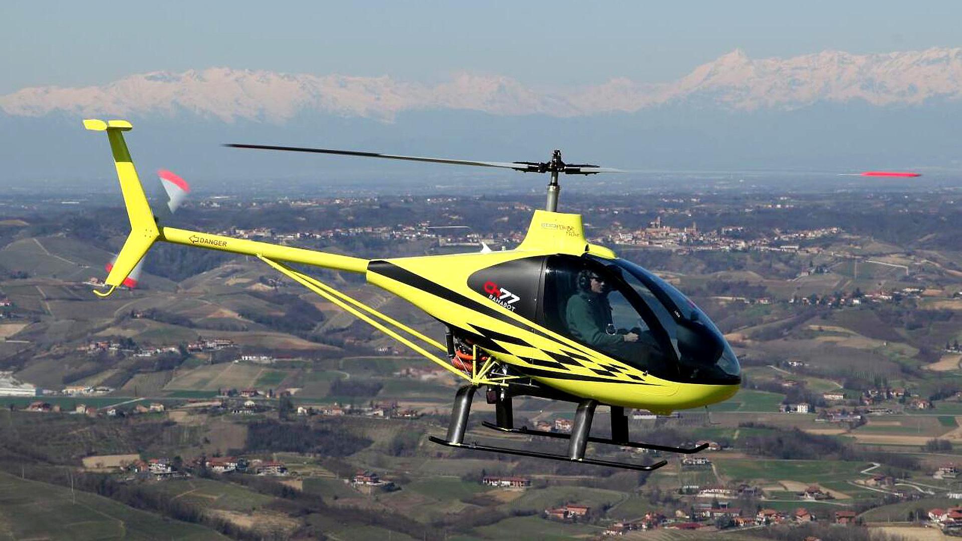 使用一台活塞发动机,这款轻型民用直升机,可让2人乘坐