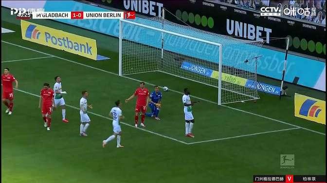马库斯·图拉姆头球破门!门兴格拉德巴赫2-0领先柏林联!