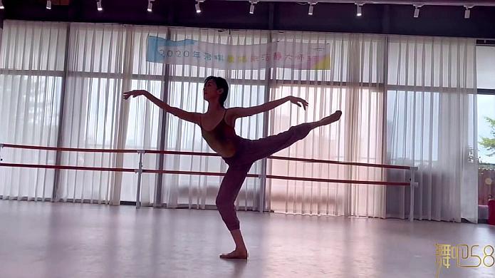 朱洁净的舞蹈是一绝,看看她的芭蕾《匆匆那年》,就知道有多强!