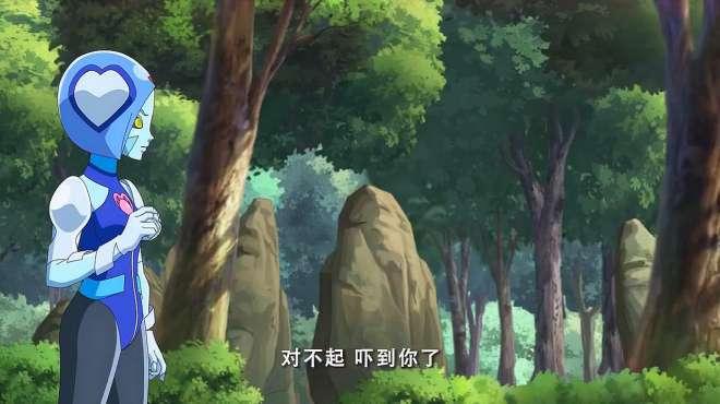 火力少年王:蓝色短发妹一个人在森林中练习悠悠球
