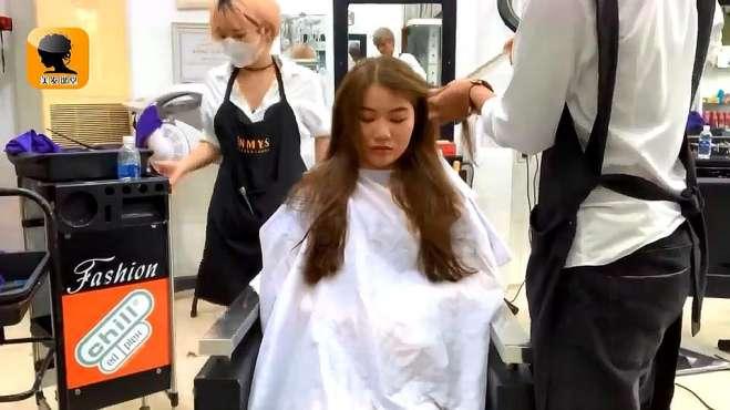 超长的头发用这个方法烫,浪漫又优雅,吹干都很时尚