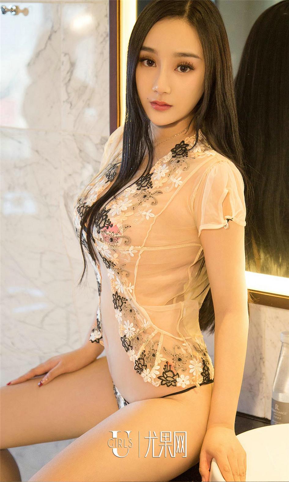 [尤果网] 性感蕾丝美女贺欣畅丁字裤写真 第657期